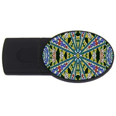Kaleidoscope Background Usb Flash Drive Oval (4 Gb)