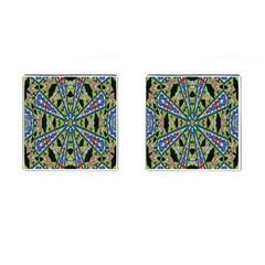 Kaleidoscope Background Cufflinks (square)