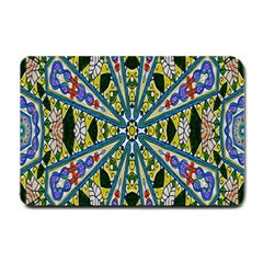 Kaleidoscope Background Small Doormat  by BangZart