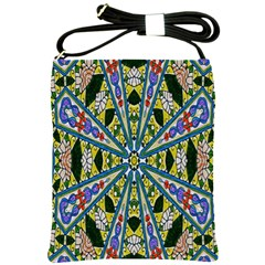 Kaleidoscope Background Shoulder Sling Bags by BangZart