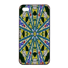 Kaleidoscope Background Apple Iphone 4/4s Seamless Case (black) by BangZart