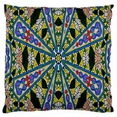 Kaleidoscope Background Large Cushion Case (two Sides)