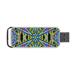 Kaleidoscope Background Portable Usb Flash (two Sides) by BangZart