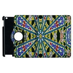 Kaleidoscope Background Apple Ipad 2 Flip 360 Case by BangZart