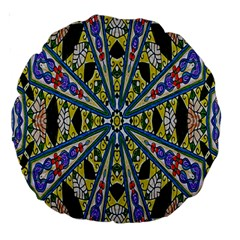 Kaleidoscope Background Large 18  Premium Round Cushions by BangZart