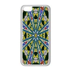 Kaleidoscope Background Apple Iphone 5c Seamless Case (white) by BangZart