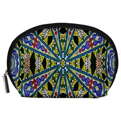 Kaleidoscope Background Accessory Pouches (large)  by BangZart