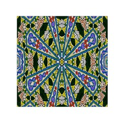 Kaleidoscope Background Small Satin Scarf (square) by BangZart