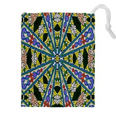 Kaleidoscope Background Drawstring Pouches (xxl) by BangZart