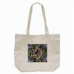 Water Ripple Design Background Wallpaper Of Water Ripples Applied To A Kaleidoscope Pattern Tote Bag (cream) by BangZart