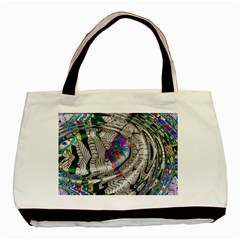 Water Ripple Design Background Wallpaper Of Water Ripples Applied To A Kaleidoscope Pattern Basic Tote Bag by BangZart