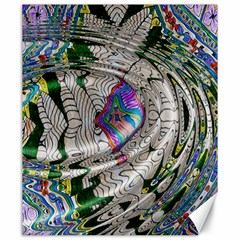 Water Ripple Design Background Wallpaper Of Water Ripples Applied To A Kaleidoscope Pattern Canvas 20  X 24   by BangZart