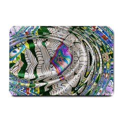Water Ripple Design Background Wallpaper Of Water Ripples Applied To A Kaleidoscope Pattern Small Doormat  by BangZart