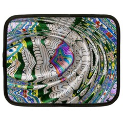 Water Ripple Design Background Wallpaper Of Water Ripples Applied To A Kaleidoscope Pattern Netbook Case (xxl)  by BangZart
