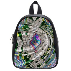 Water Ripple Design Background Wallpaper Of Water Ripples Applied To A Kaleidoscope Pattern School Bags (small)  by BangZart