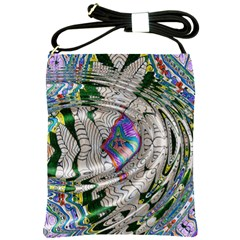 Water Ripple Design Background Wallpaper Of Water Ripples Applied To A Kaleidoscope Pattern Shoulder Sling Bags by BangZart