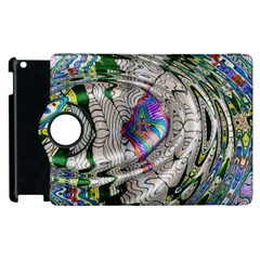 Water Ripple Design Background Wallpaper Of Water Ripples Applied To A Kaleidoscope Pattern Apple Ipad 3/4 Flip 360 Case by BangZart