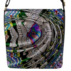 Water Ripple Design Background Wallpaper Of Water Ripples Applied To A Kaleidoscope Pattern Flap Messenger Bag (s) by BangZart