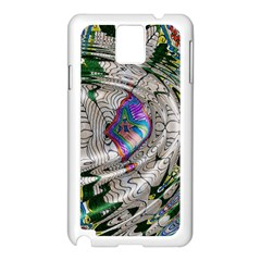 Water Ripple Design Background Wallpaper Of Water Ripples Applied To A Kaleidoscope Pattern Samsung Galaxy Note 3 N9005 Case (white)
