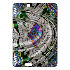 Water Ripple Design Background Wallpaper Of Water Ripples Applied To A Kaleidoscope Pattern Kindle Fire Hdx Hardshell Case by BangZart