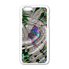Water Ripple Design Background Wallpaper Of Water Ripples Applied To A Kaleidoscope Pattern Apple Iphone 6/6s White Enamel Case by BangZart