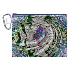 Water Ripple Design Background Wallpaper Of Water Ripples Applied To A Kaleidoscope Pattern Canvas Cosmetic Bag (xxl) by BangZart