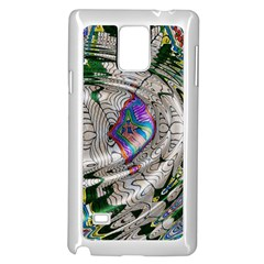 Water Ripple Design Background Wallpaper Of Water Ripples Applied To A Kaleidoscope Pattern Samsung Galaxy Note 4 Case (white) by BangZart