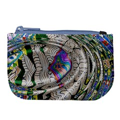 Water Ripple Design Background Wallpaper Of Water Ripples Applied To A Kaleidoscope Pattern Large Coin Purse