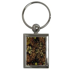 Wallpaper With Fractal Small Flowers Key Chains (rectangle)  by BangZart