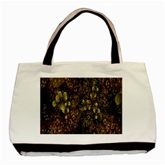 Wallpaper With Fractal Small Flowers Basic Tote Bag by BangZart