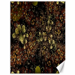 Wallpaper With Fractal Small Flowers Canvas 36  X 48