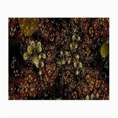 Wallpaper With Fractal Small Flowers Small Glasses Cloth (2 Side) by BangZart