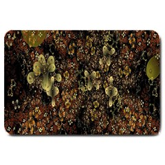 Wallpaper With Fractal Small Flowers Large Doormat