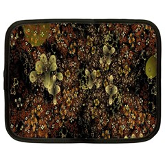 Wallpaper With Fractal Small Flowers Netbook Case (large) by BangZart