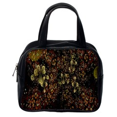 Wallpaper With Fractal Small Flowers Classic Handbags (one Side)