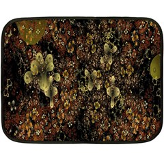 Wallpaper With Fractal Small Flowers Fleece Blanket (mini) by BangZart