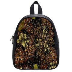 Wallpaper With Fractal Small Flowers School Bags (small)  by BangZart