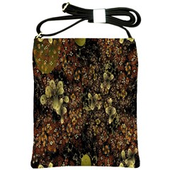 Wallpaper With Fractal Small Flowers Shoulder Sling Bags
