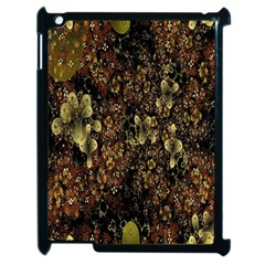 Wallpaper With Fractal Small Flowers Apple Ipad 2 Case (black) by BangZart