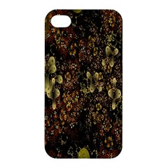 Wallpaper With Fractal Small Flowers Apple Iphone 4/4s Hardshell Case