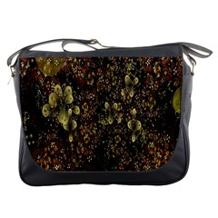 Wallpaper With Fractal Small Flowers Messenger Bags by BangZart