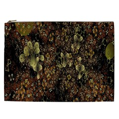 Wallpaper With Fractal Small Flowers Cosmetic Bag (xxl)