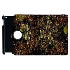 Wallpaper With Fractal Small Flowers Apple Ipad 2 Flip 360 Case by BangZart