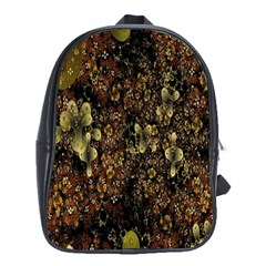 Wallpaper With Fractal Small Flowers School Bags (xl)