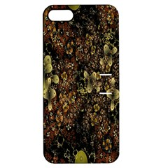 Wallpaper With Fractal Small Flowers Apple Iphone 5 Hardshell Case With Stand
