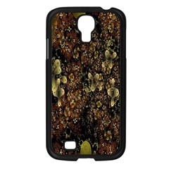 Wallpaper With Fractal Small Flowers Samsung Galaxy S4 I9500/ I9505 Case (black)