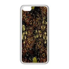 Wallpaper With Fractal Small Flowers Apple Iphone 5c Seamless Case (white)