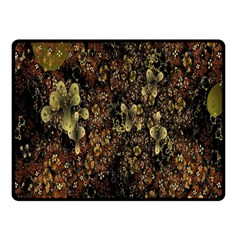 Wallpaper With Fractal Small Flowers Double Sided Fleece Blanket (small)