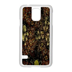 Wallpaper With Fractal Small Flowers Samsung Galaxy S5 Case (white) by BangZart