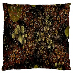 Wallpaper With Fractal Small Flowers Large Flano Cushion Case (one Side) by BangZart
